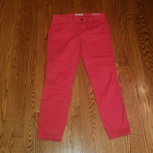 Madewell skinny ankle coral pants size 10